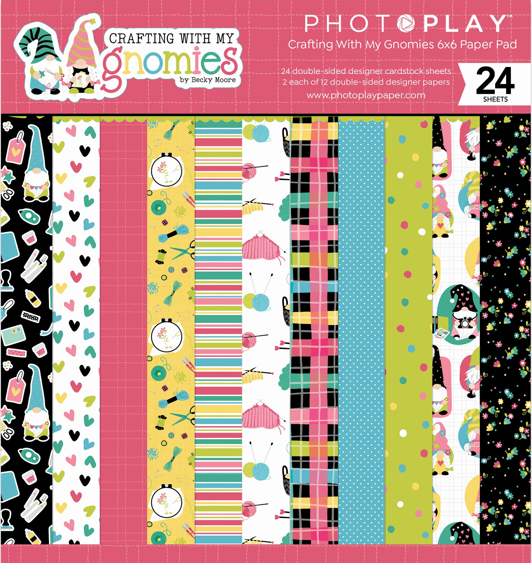 PhotoPlay Double-Sided Paper Pad 6X6 24/Pkg-Crafting With My Gnomies