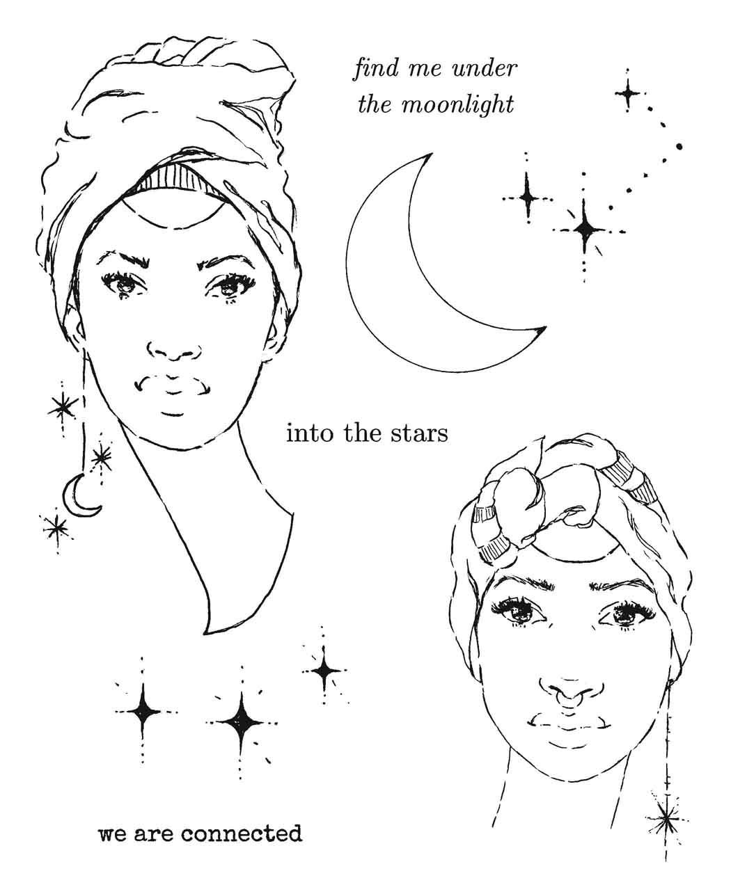 Danielle Mack Cling Stamps-Star Gazers