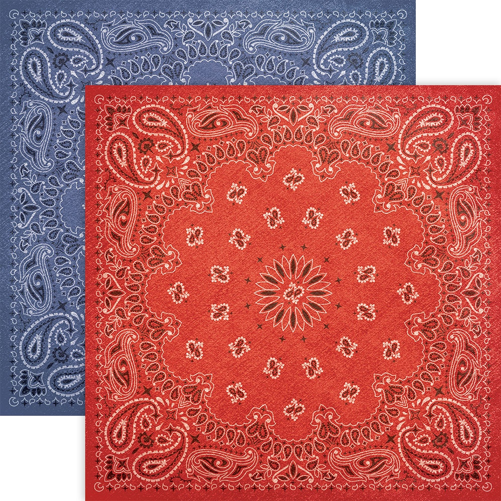 Paper House Double-Sided Cardstock 12X12-Bandana