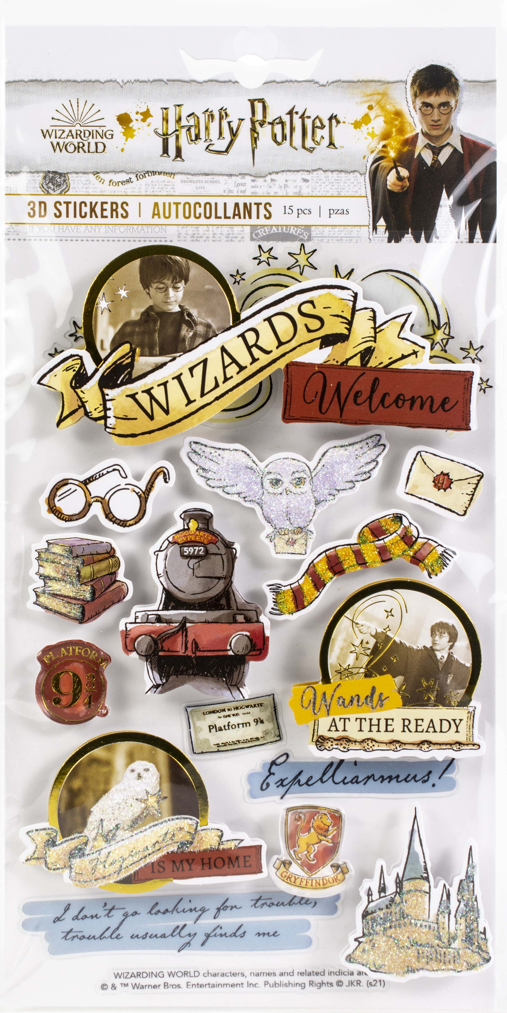 Paper House 3D Stickers-Harry Potter Watercolors