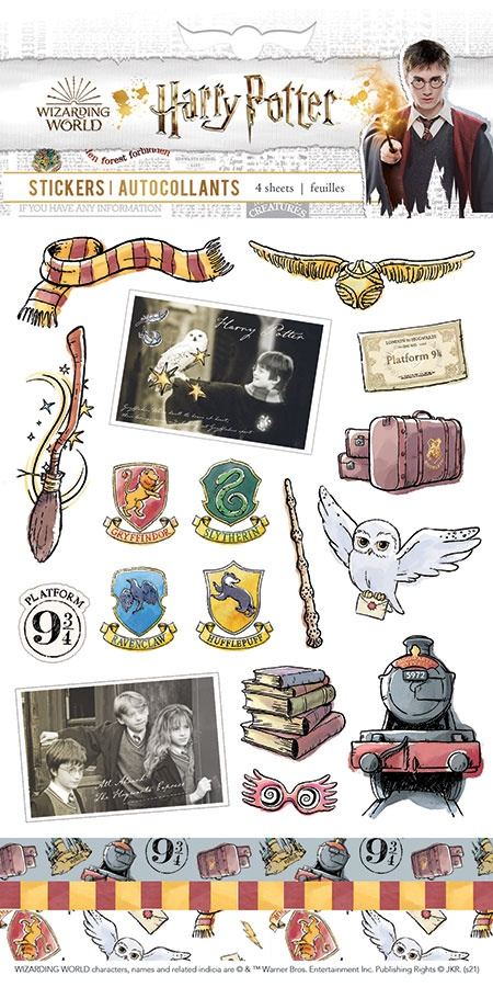 Paper House Harry Potter Stickers 4/Sht-Classic