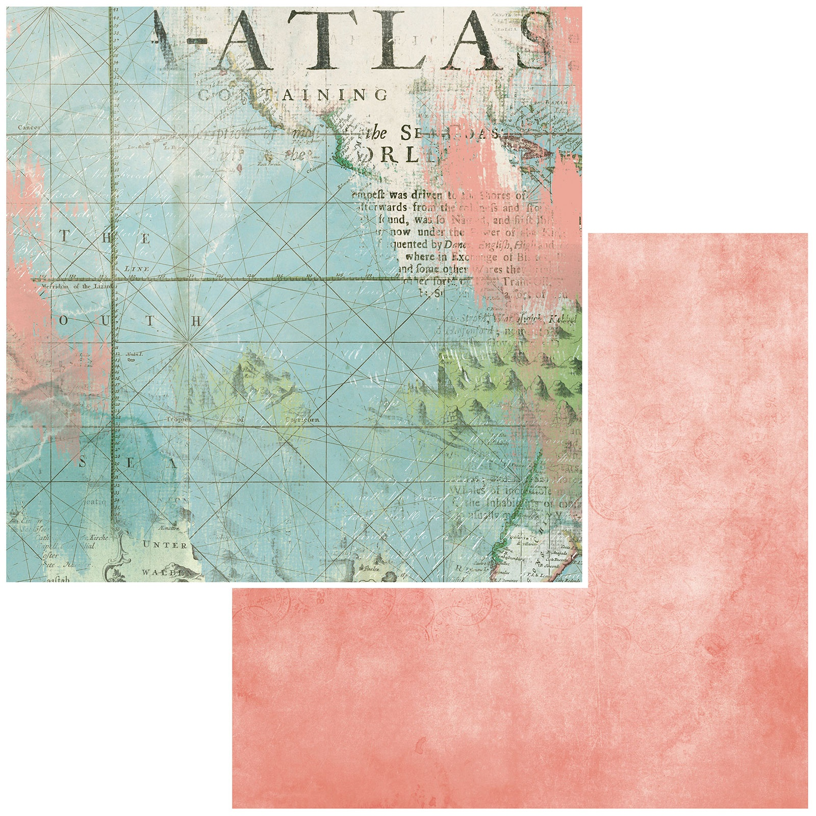 Vintage Artistry Anywhere Double-Sided Cardstock 12X12-Atlas