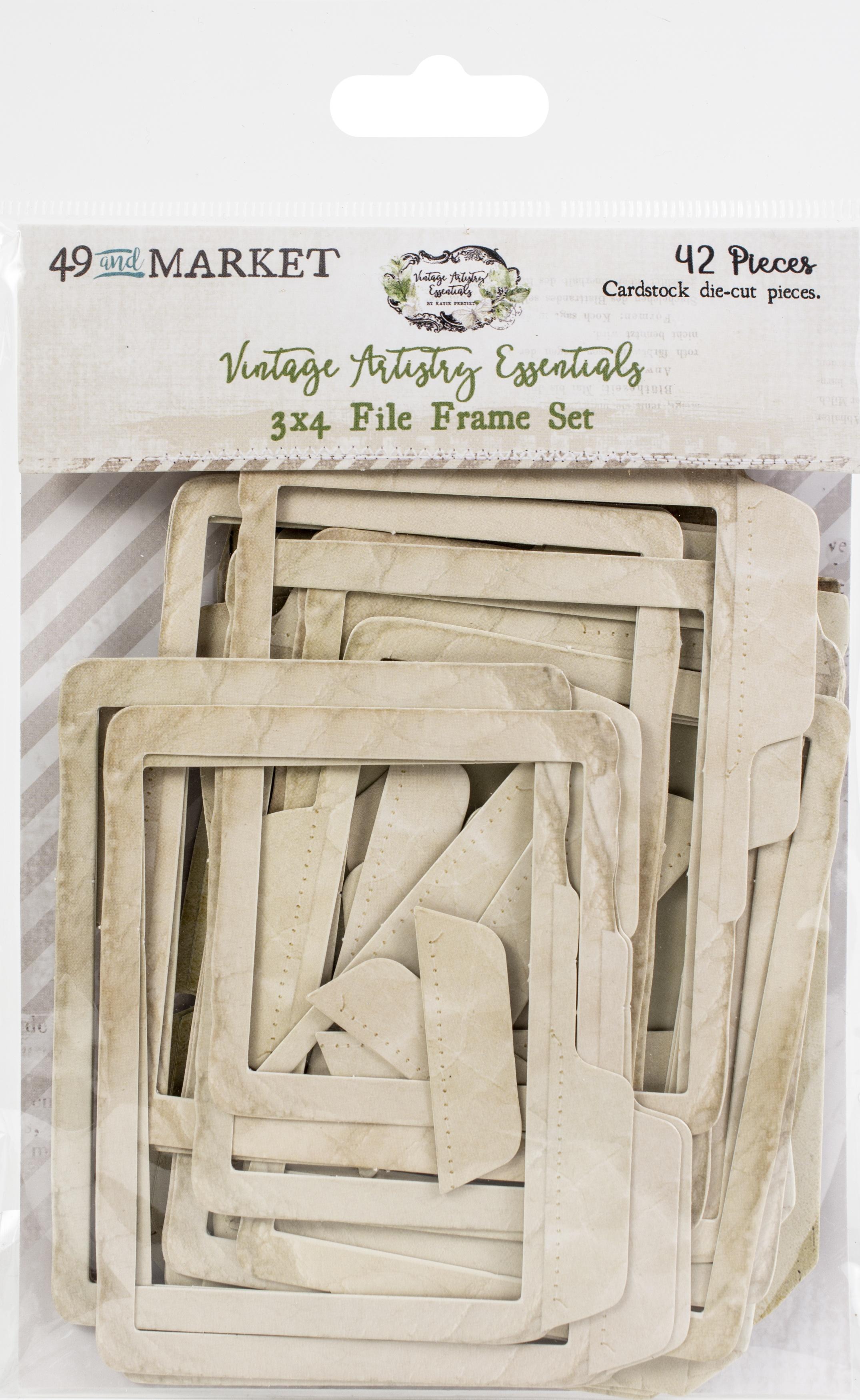 49 and Market - Vintage Artistry Essentials - 3x4 File Frame Set