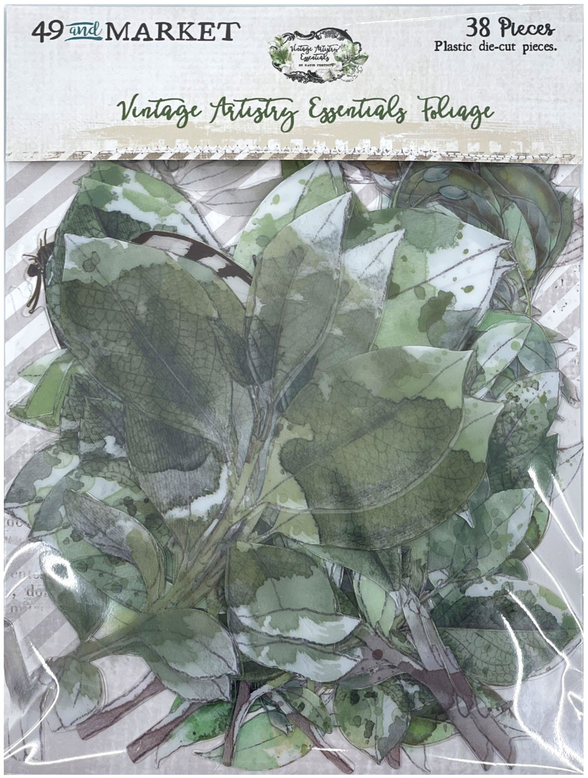 Vintage Artistry Essentials Acetate Shapes 38/Pkg Foliage