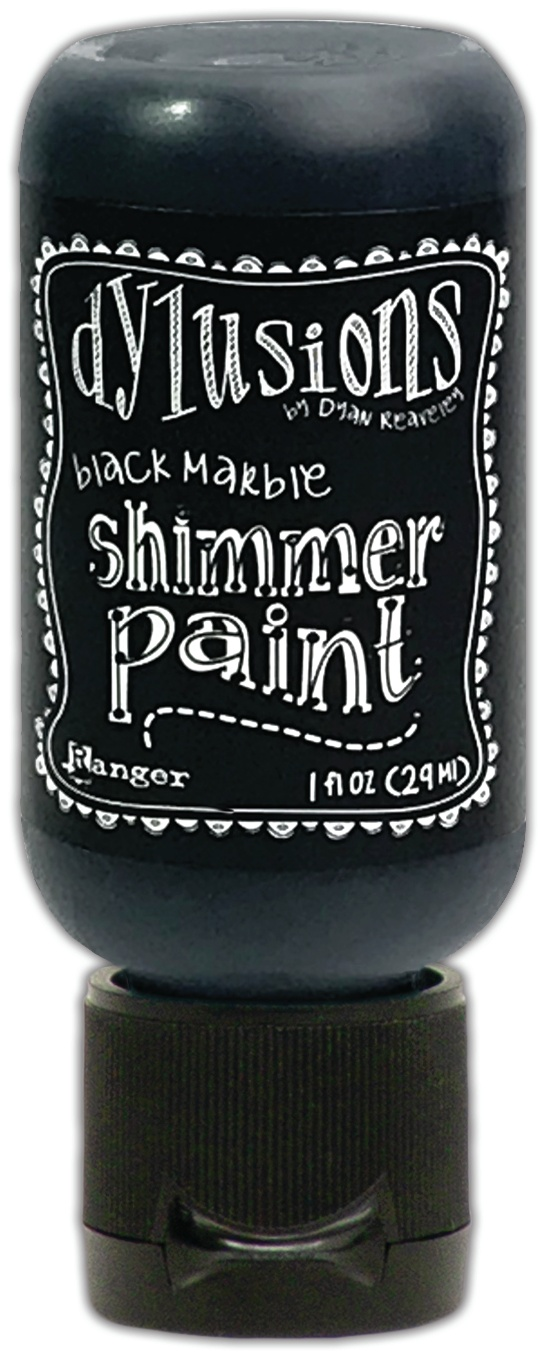 Dylusions Shimmer Paint Black Marble