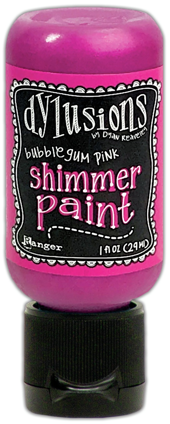 Dylusions Shimmer Paint 1oz-Bubblegum Pink