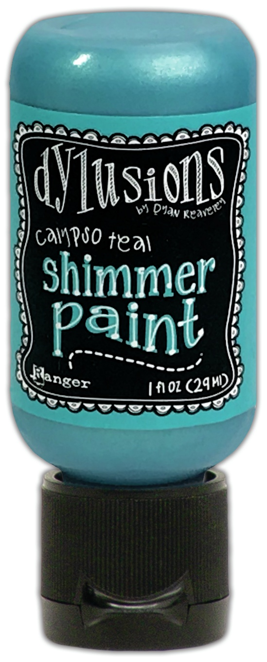 Dylusions Shimmer Paint 1oz-Calypso Teal