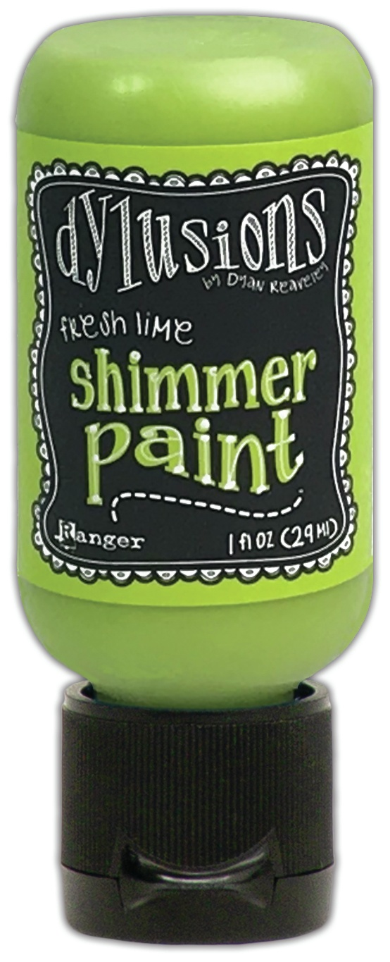 Dylusions Shimmer Paint 1oz-Fresh Lime