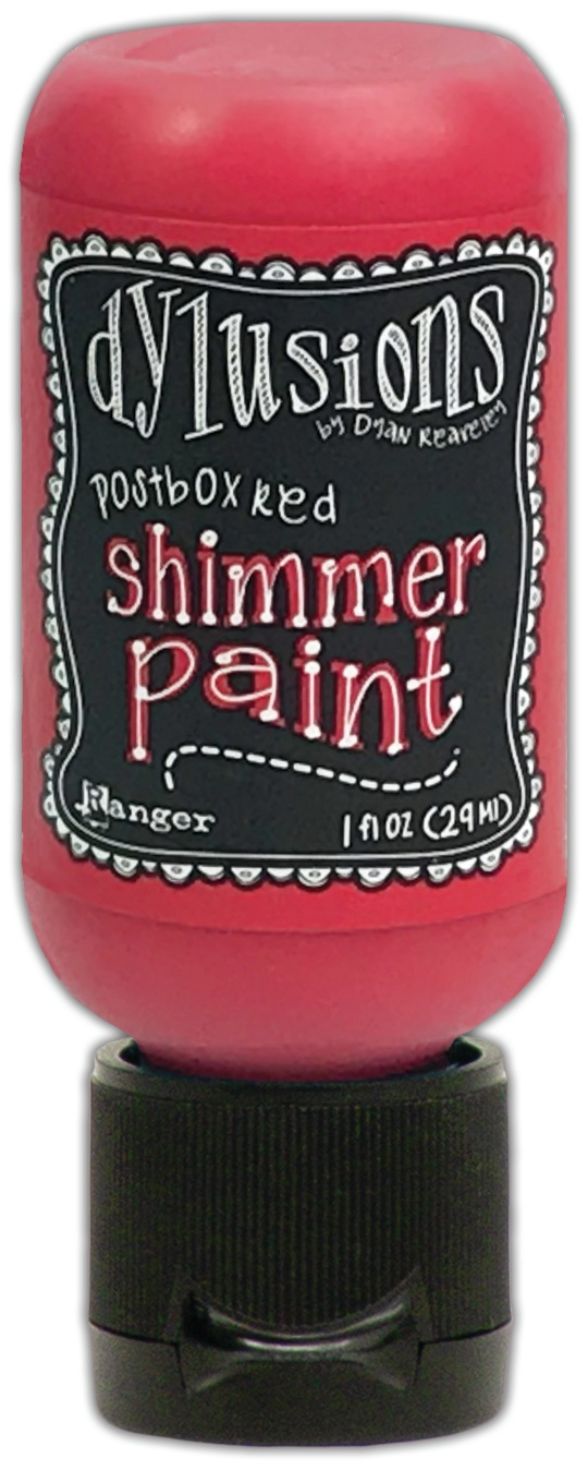 Dylusions Shimmer Paint 1oz-Postbox Red