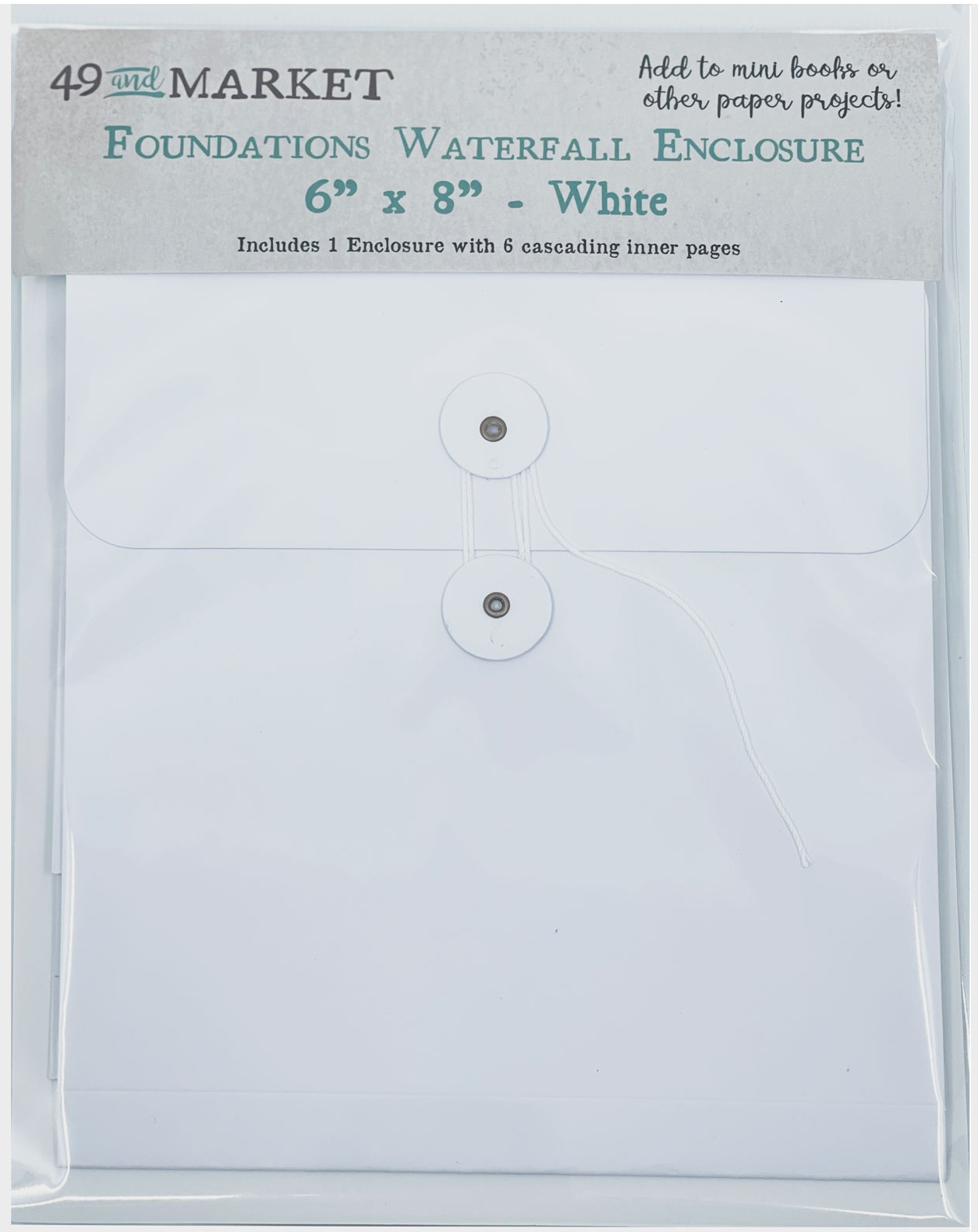 49 And Market Foundations Waterfall Enclosure 6X8-White
