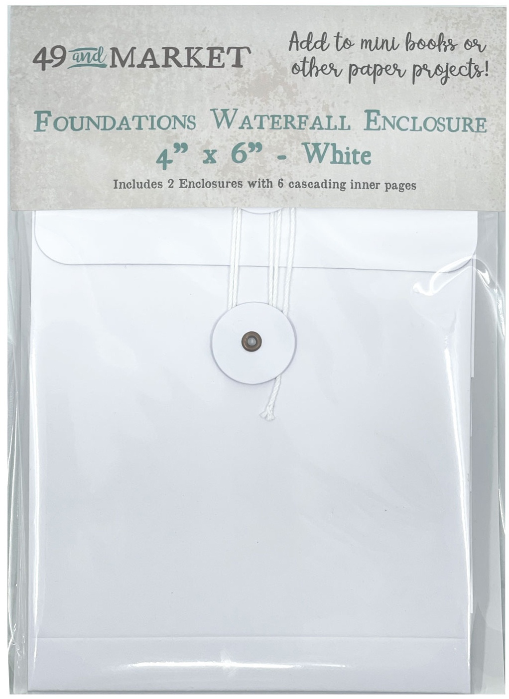 49 And Market Foundations Waterfall Enclosure 4X6-White