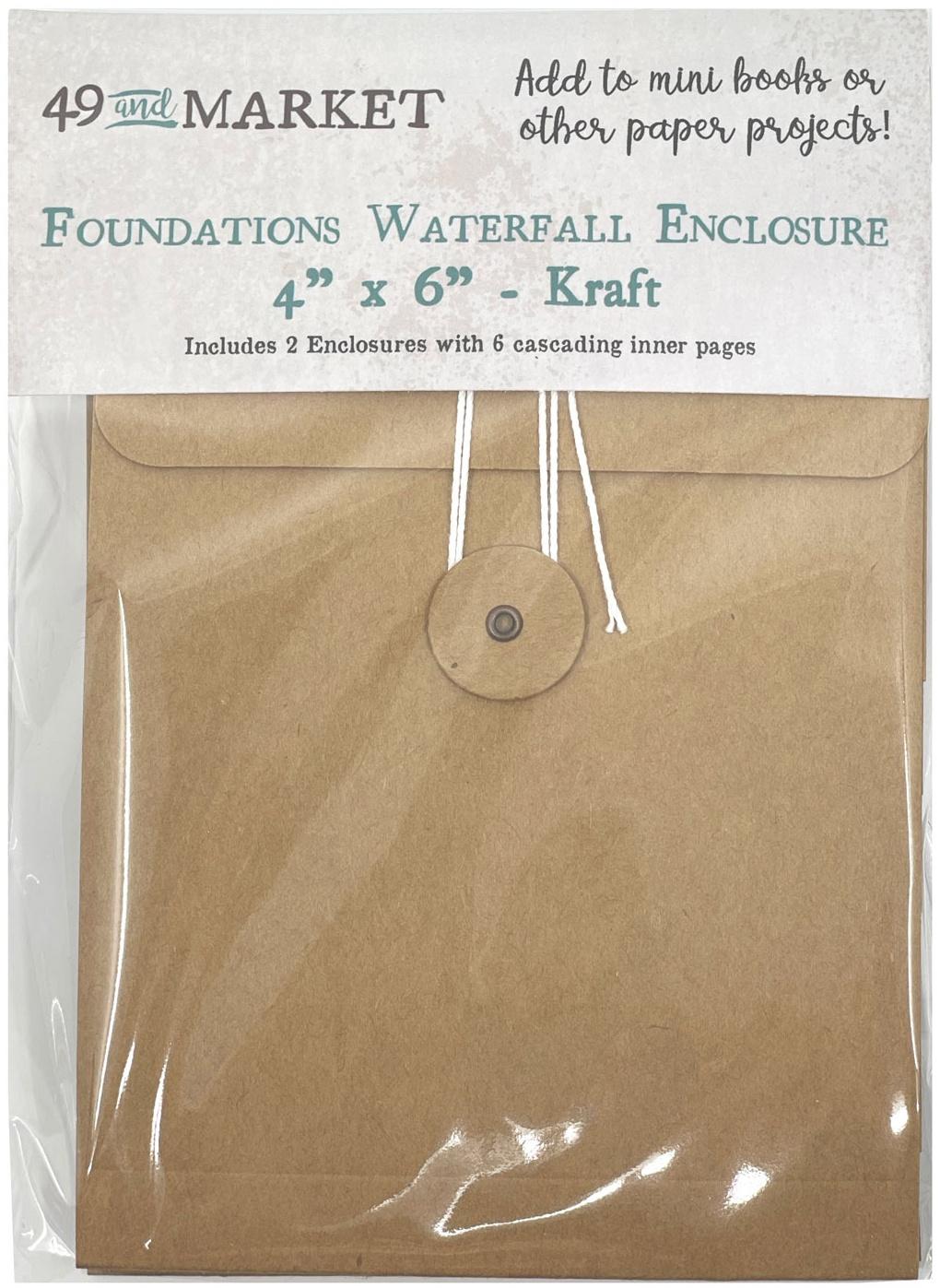 49 And Market Foundations Waterfall Enclosure 4X6-Kraft