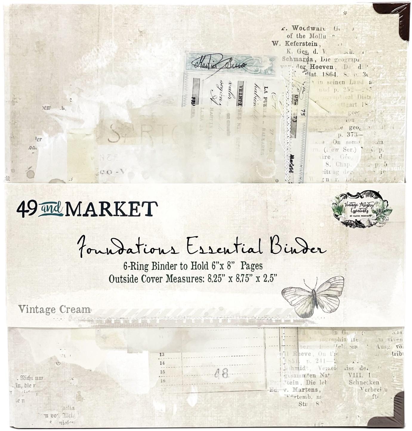 49 And Market Foundations Essential Binder-Vintage Cream