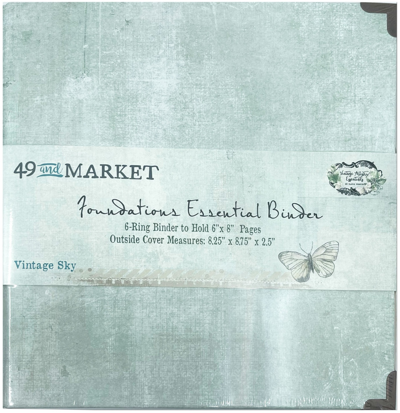 49 And Market Foundations Essential Binder-Vintage Sky