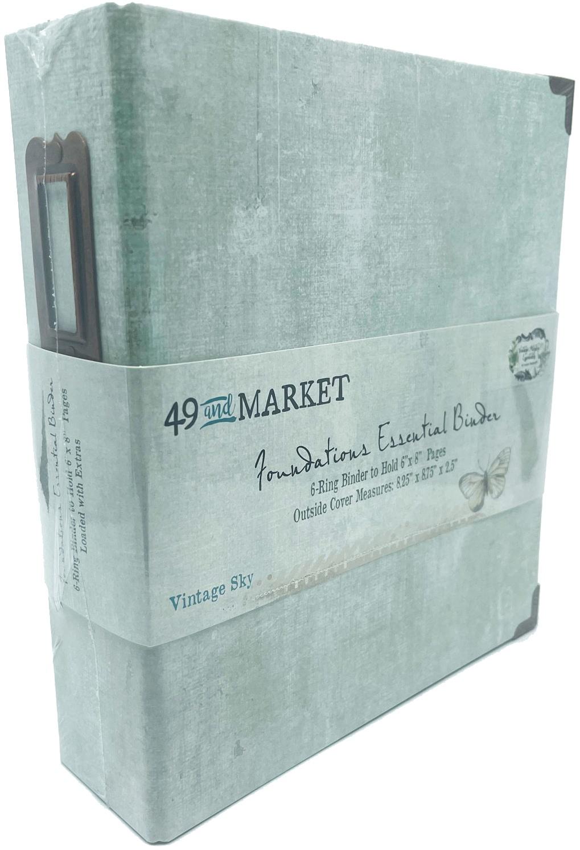 49 And Market Foundations Essential Binder Vintage Sky