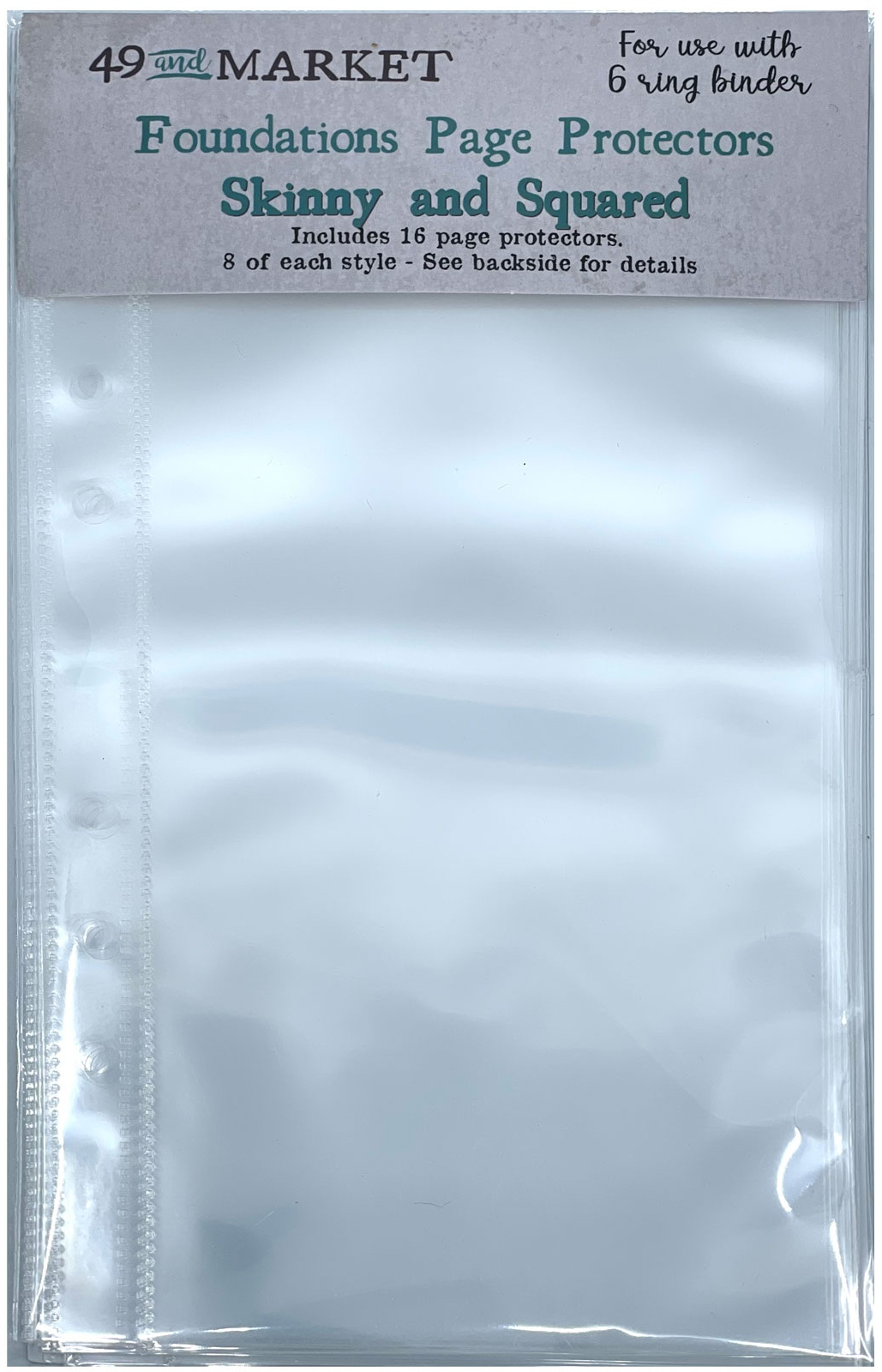 Foundations Page Protectors 4X8 16/Pkg-Skinny & Squared