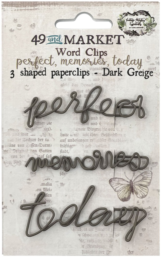 49 And Market Foundations Word Paperclips 3/Pkg-Perfect, Memories & Today In Dar...