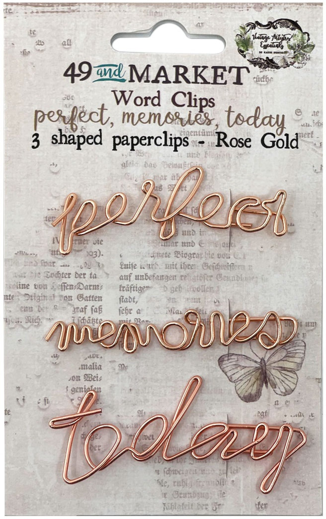 49 And Market Foundations Word Paperclips 3/Pkg-Perfect, Memories & Today In Ros...