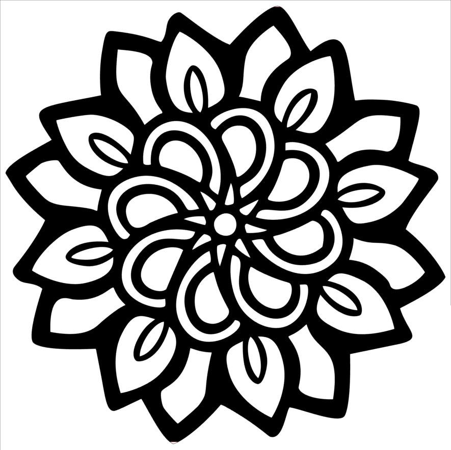 MKR Stencils By Hedgehog Hollow 6X6-In Bloom