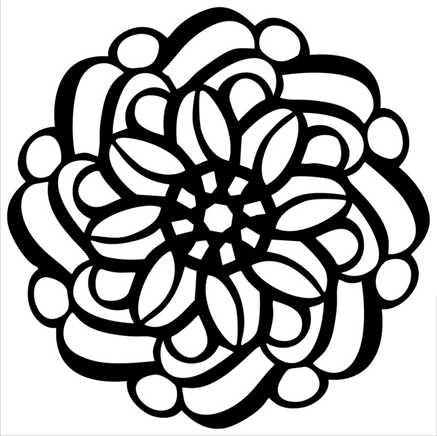 MKR Stencils By Hedgehog Hollow 6X6-Swirly Whirly Square