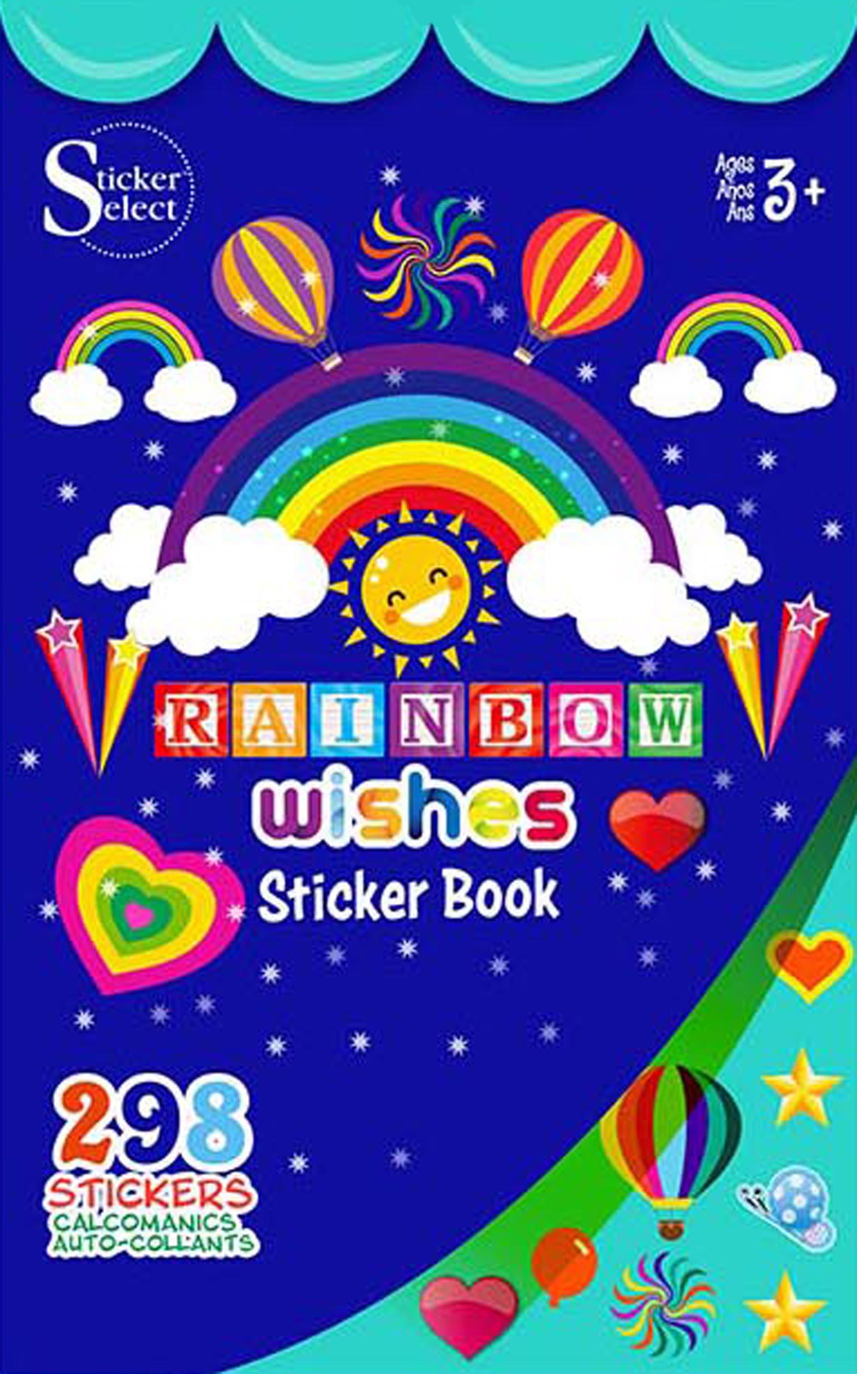 Themed Sticker Book 9.5X5.75-Rainbow Wishes
