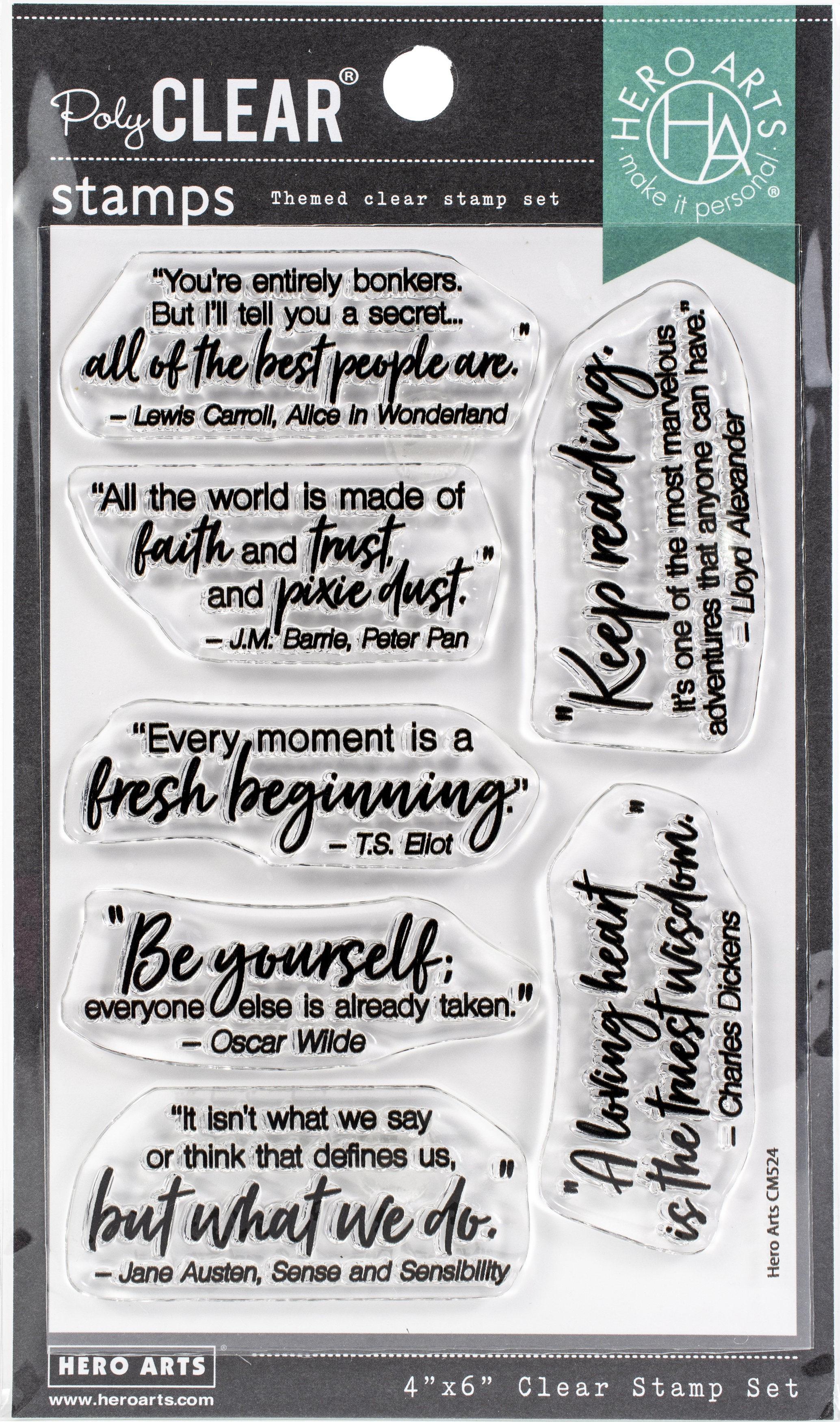 Hero Arts Clear Stamps - Literary Quotes