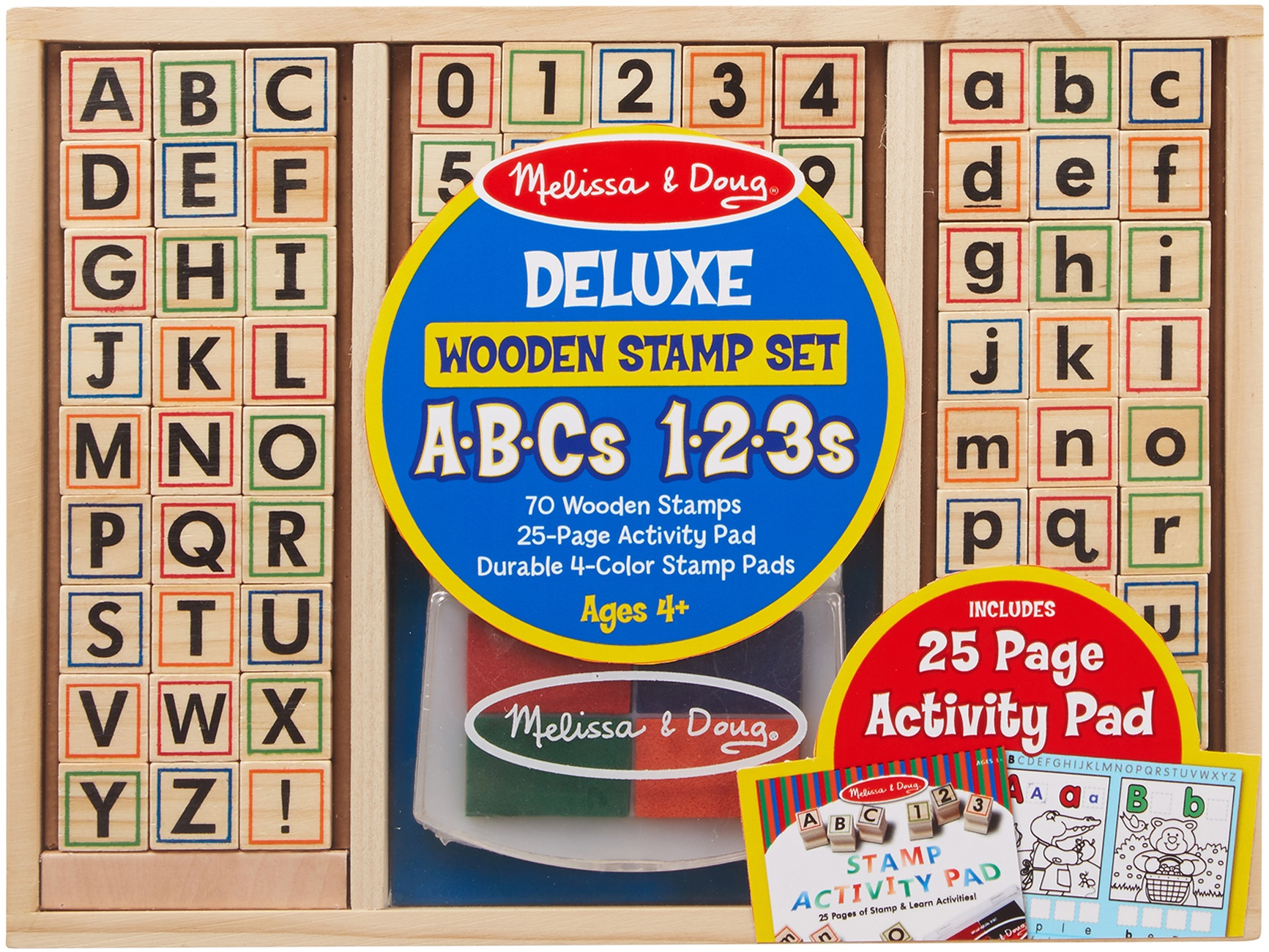 Wooden ABC Activity Stamp Set-