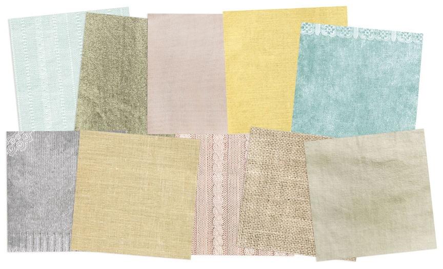 P13 Maxi Creative Paper Pad 12X12 12/Pkg-Fabric