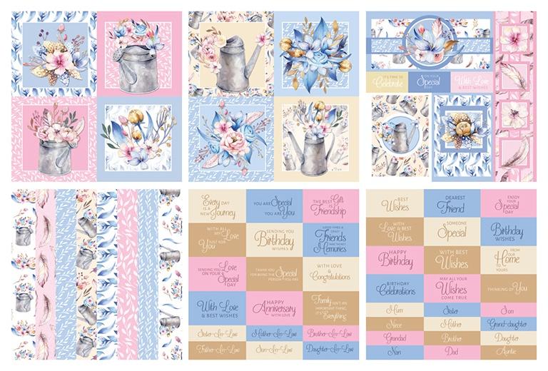 The Paper Boutique Embellishments Pad 8X8 36/Pkg-Spring Sunshine, 6 Designs