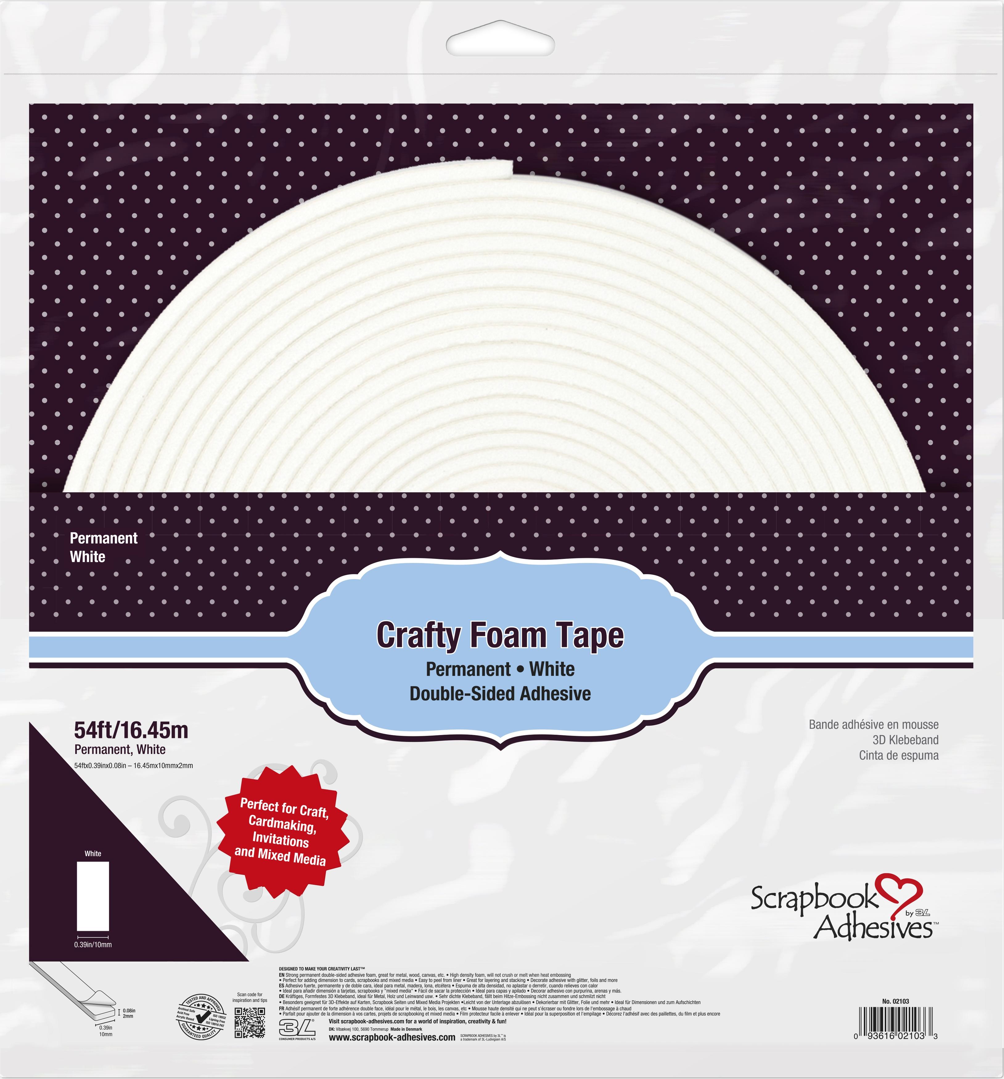 Crafty Foam Tape Roll-White 54'
