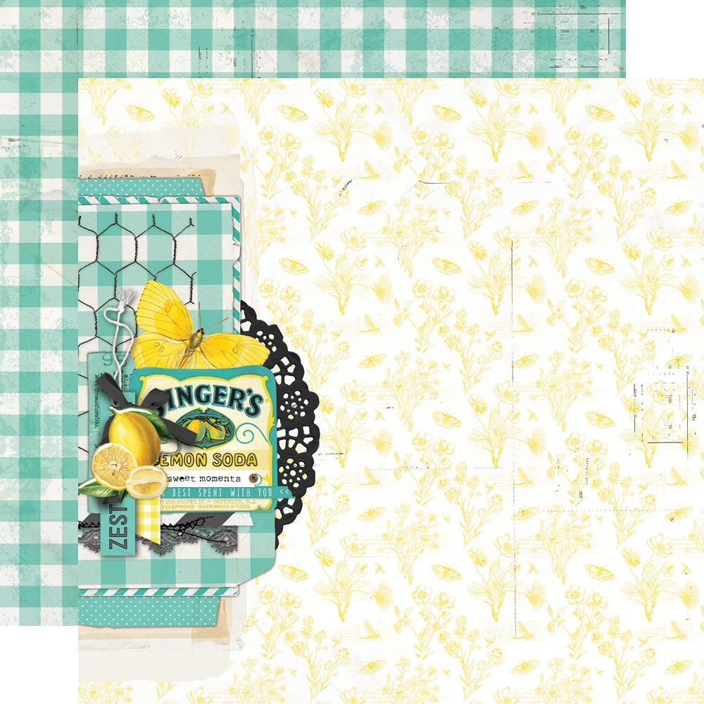 Simple Vintage Lemon Twist - SWEET LIFE - 12x12 Double-Sided Paper