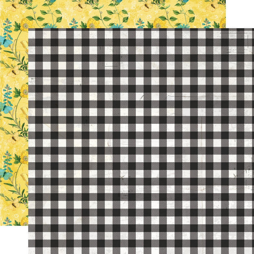Simple Vintage Lemon Twist - SO SWEET - 12x12 Double-Sided Paper