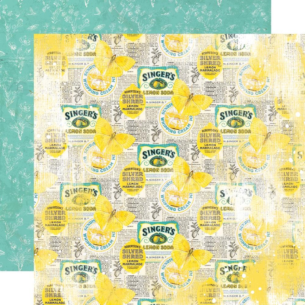New! Simple Vintage Lemon Twist Double-Sided Cardstock 12X12-Easy Peasy