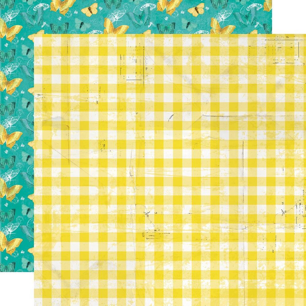 Simple Vintage Lemon Twist - FRESH SQUEEZED - 12x12 Double-Sided Paper