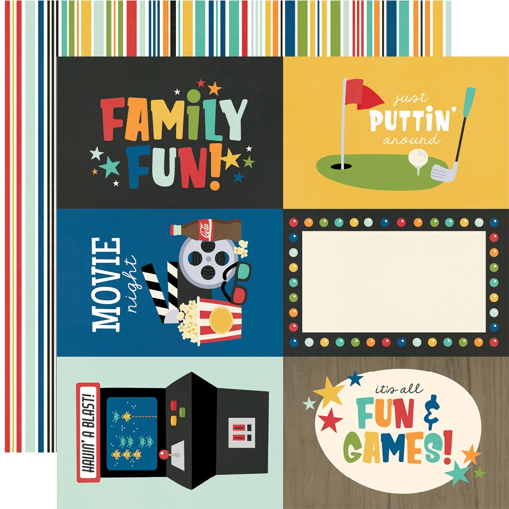 Simple Stories - Family Fun - 4x6 ELEMENTS - 12x12 Double-Sided Paper