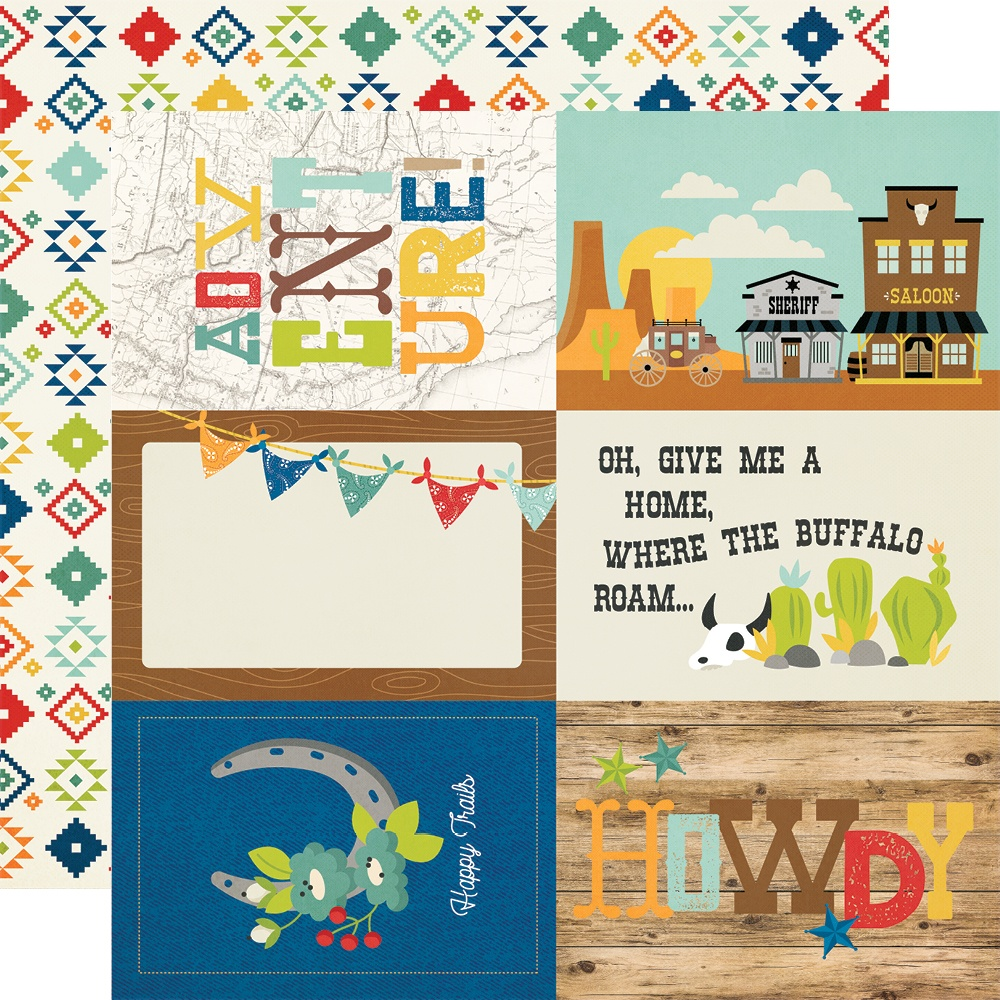New! Howdy! Double-Sided Cardstock 12X12-4X6 Elements