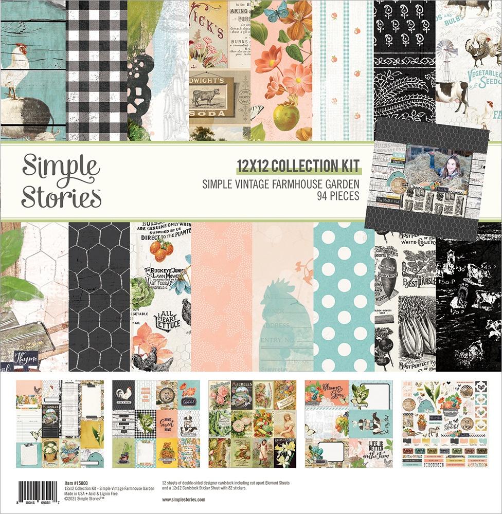 Simple Stories Collection Kit 12X12-Simple Vintage Farmhouse Garden