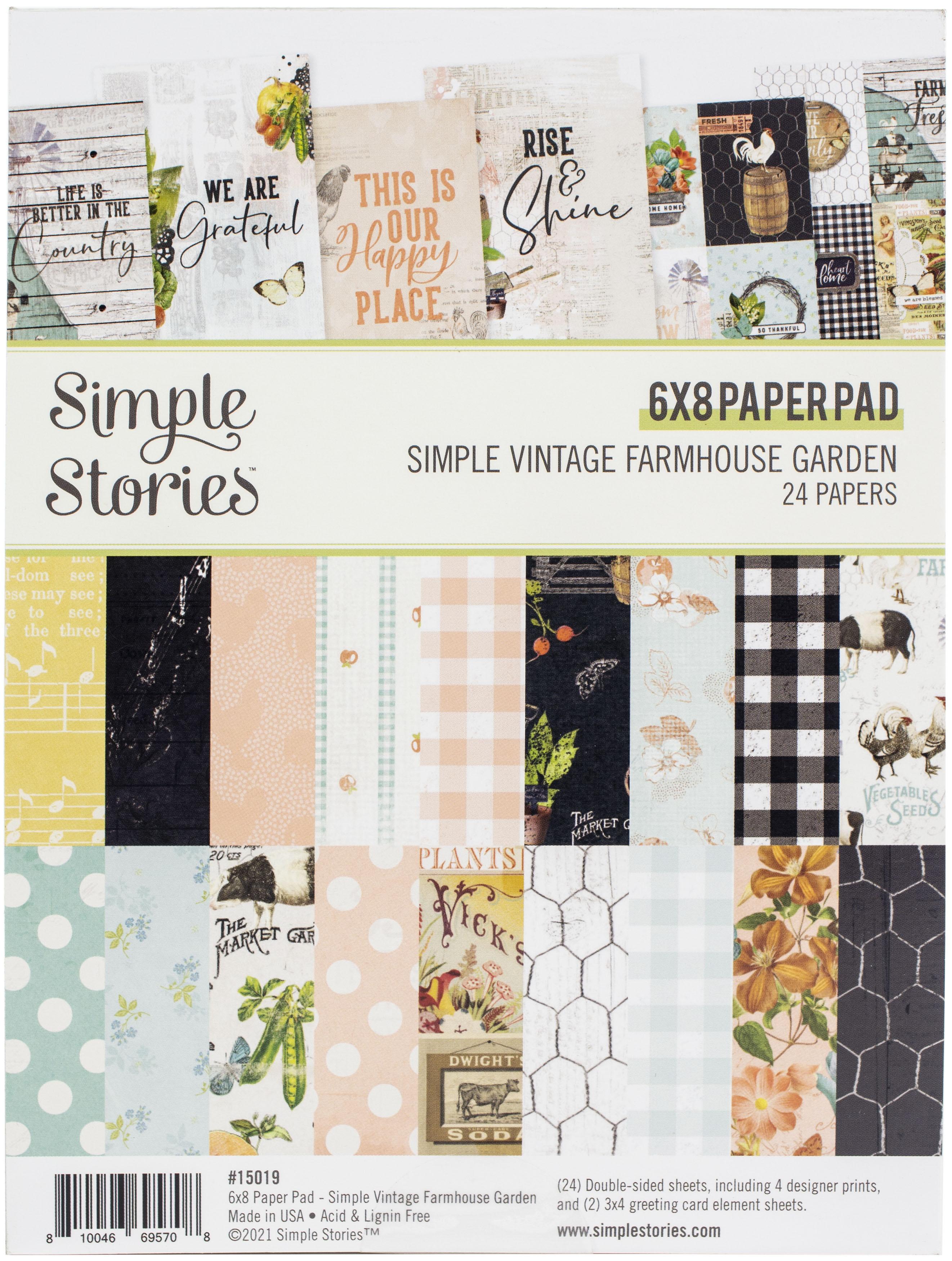 Simple Stories Double-Sided Paper Pad 6X8 24/Pkg-Simple Vintage Farmhouse Gard...