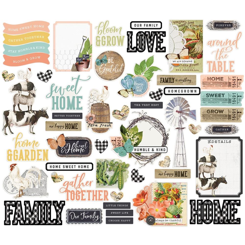 Simple Stories - Farmhouse Garden - Bits & Pieces Die-Cuts