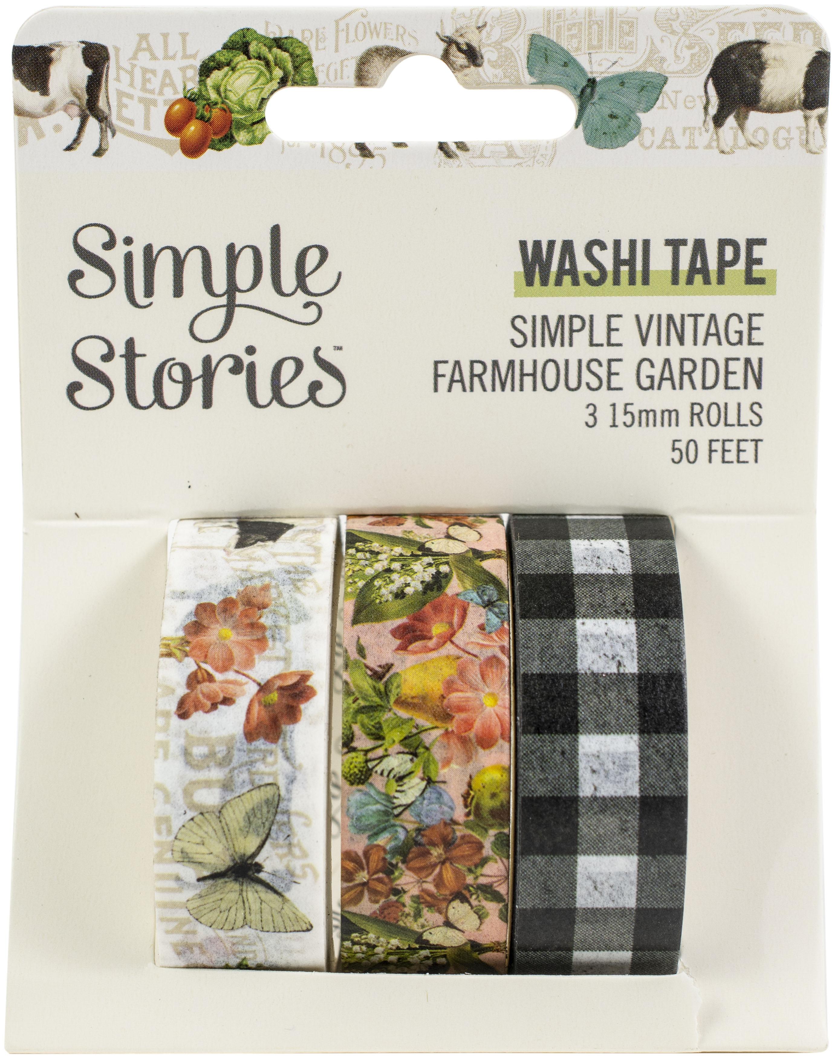 Simple Stories Simple Vintage Farmhouse Garden Washi 3/Pkg-