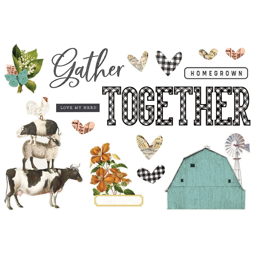 Simple Stories Simple Pages Page Pieces-Gather Together, Farmhouse Garden