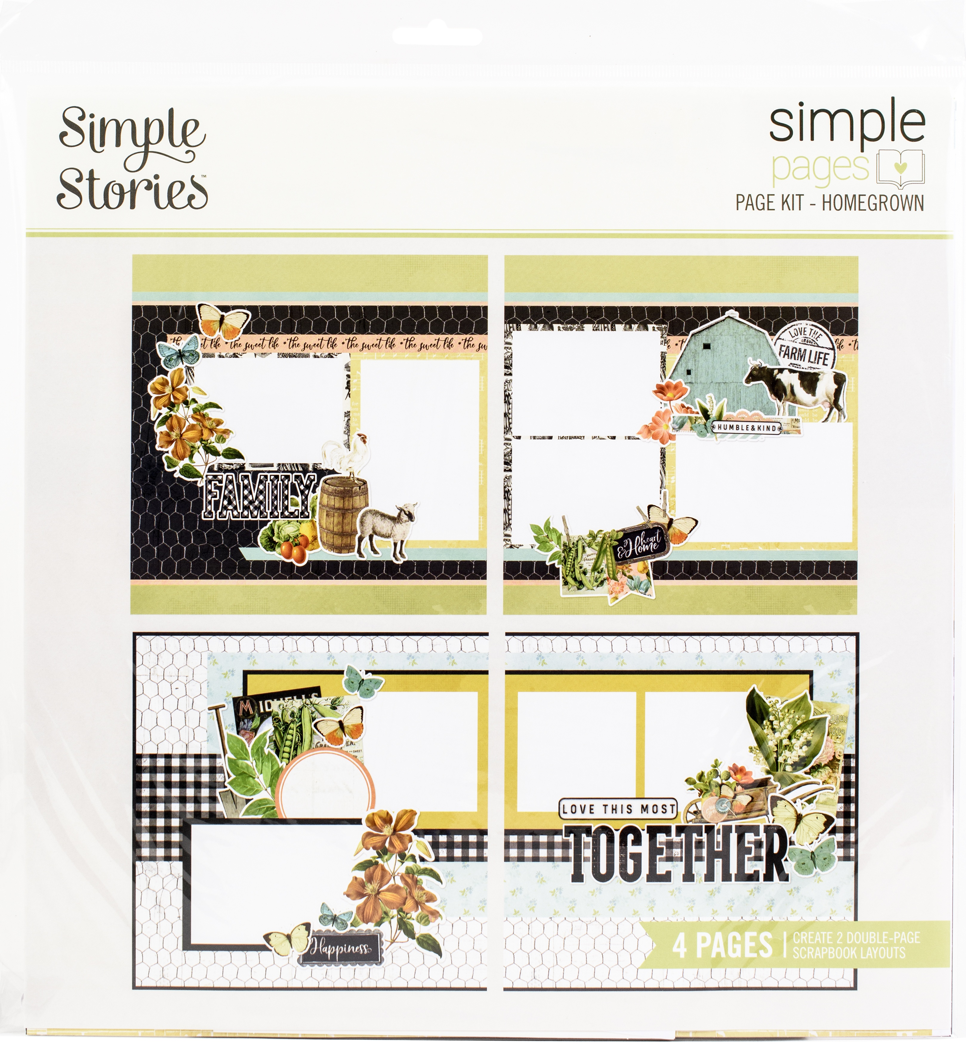 Simple Stories Simple Pages Page Kit-Homegrown, Farmhouse Garden