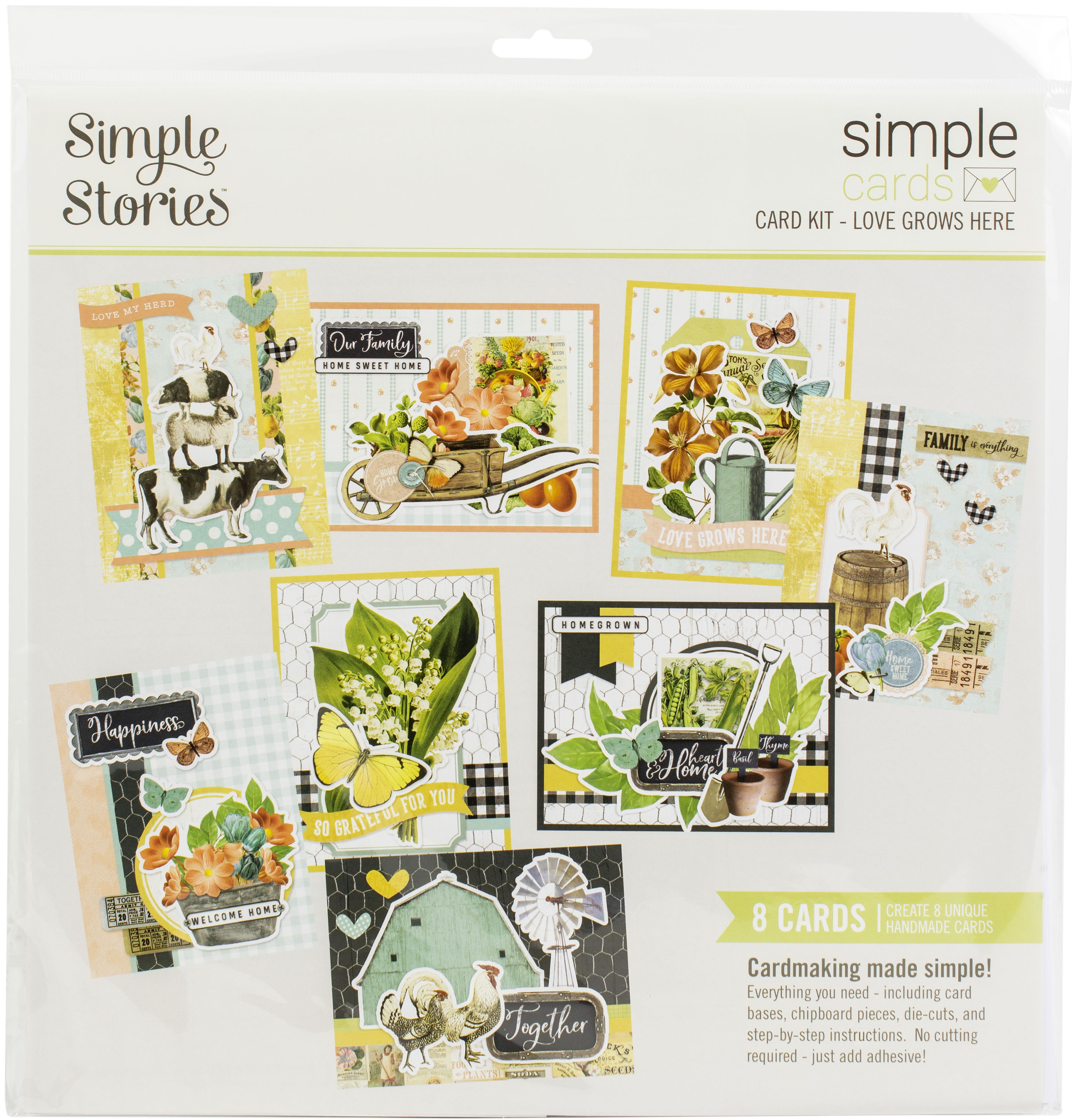 Simple Stories Simple Cards Card Kit-Love Grows Here, Farmhouse Garden