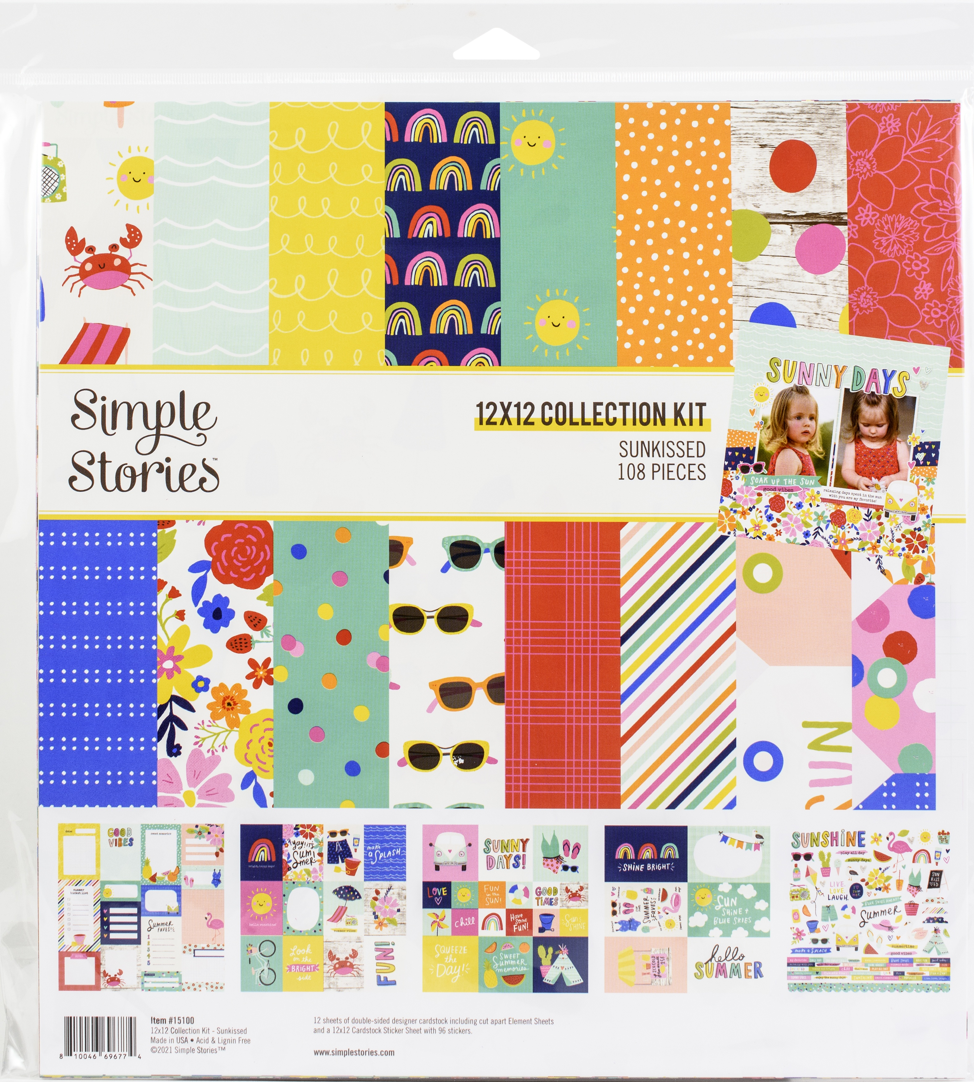 Simple Stories Collection Kit 12X12-Sunkissed
