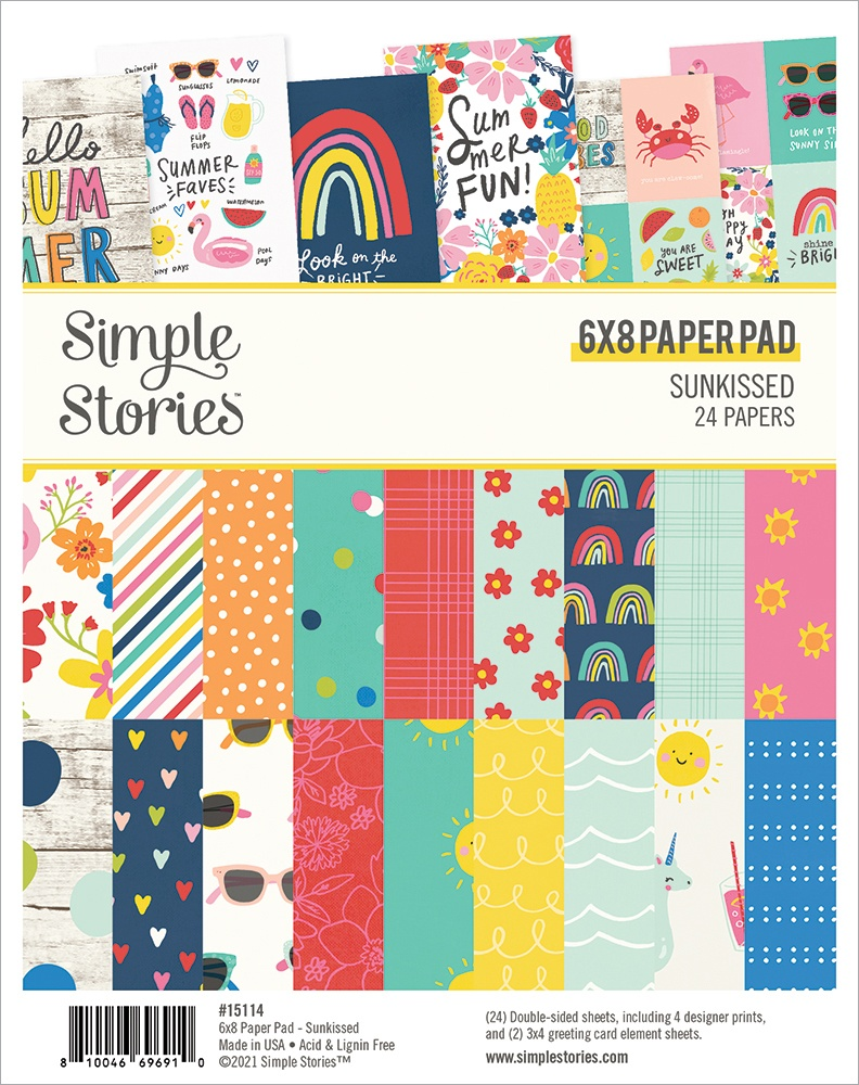 Simple Stories Double-Sided Paper Pad 6X8 24/Pkg-Sunkissed