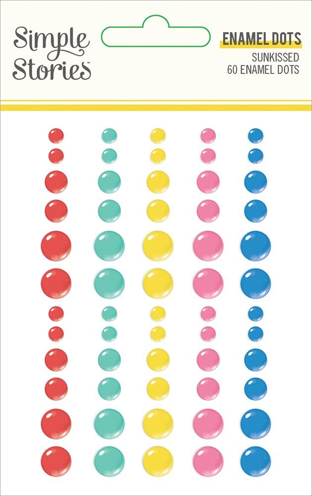 Sunkissed Enamel Dots Embellishments 60/Pkg-