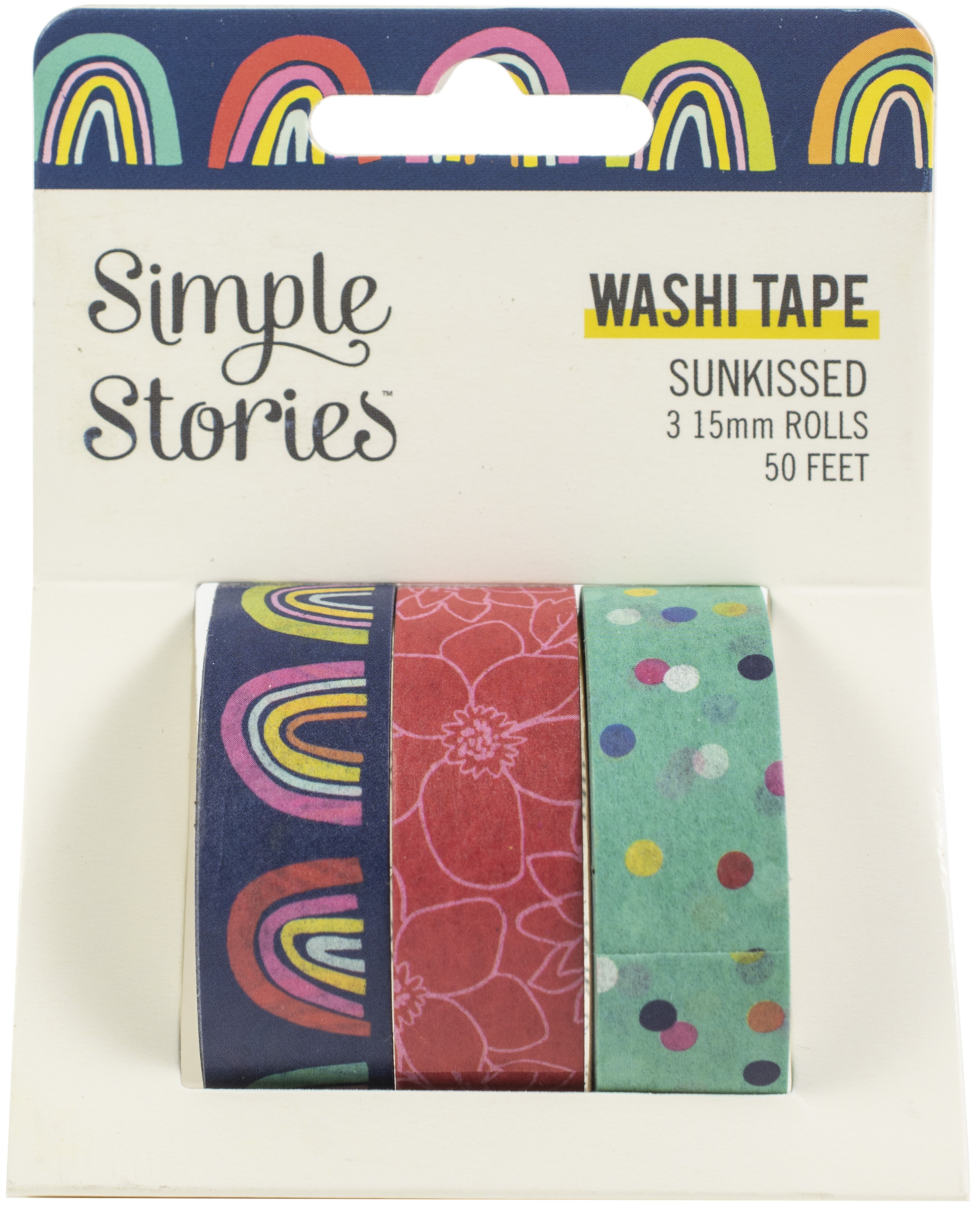 Simple Stories Sunkissed Washi Tape 3/Pkg-