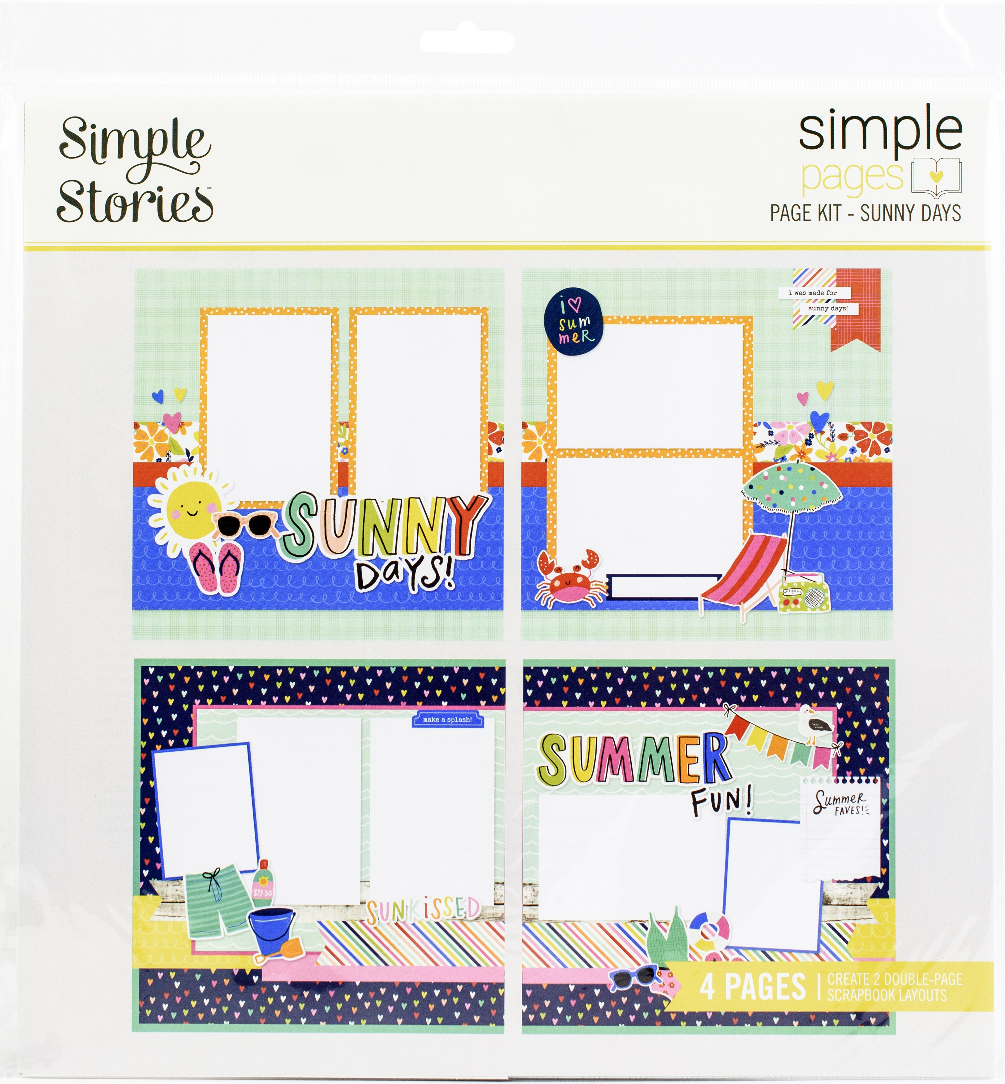 Simple Stories Simple Pages Page Kit-Sunny Days, Sunkissed