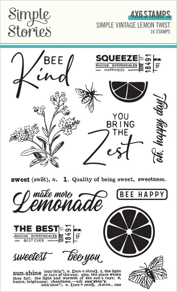 Simple Stories - Clear Stamps - Simple Vintage Lemon Twist