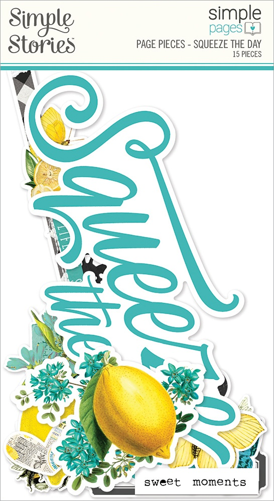 Simple Stories Simple Pages Page Pieces-Squeeze The Day, Lemon Twist